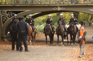 Mounted Policemen in Central Park