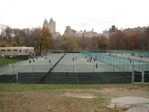 Tennis courts in Central Park