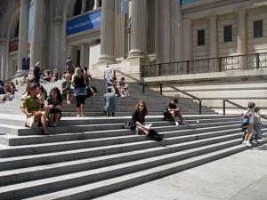 Steps at the Metropolitan Museum of Art
