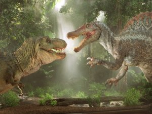 dinosaurs duking it ou