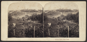 Central Park before construction