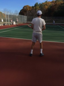 Me giving a tennis lesson