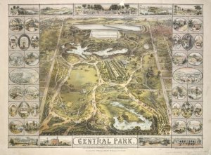 Painting of Central Park dated 1863