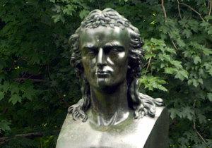Johann Friedrich von Schiller bust in Central Park