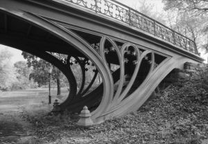 Detail of the Gothic Bridge in Central Park
