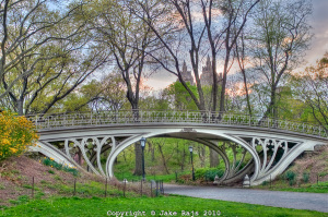 The Gothic Bridge in Central Park designed by Calvert Vaux
