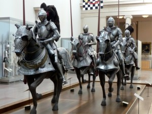 Knights in the Medieval Section of the Met
