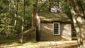 Thoreau's cabin at Walden Pond