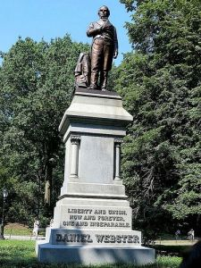 The Statue of Daniel Webster in Central Park